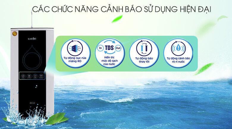 Hệ thống đèn báo thông minh - Máy lọc nước thông minh Karofi K9IQ-2.0 9 lõi