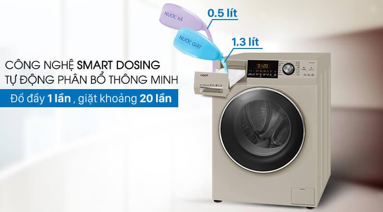 Smart Dosing - Máy giặt Aqua Inverter 10 kg AQD-DD1000A (N2)
