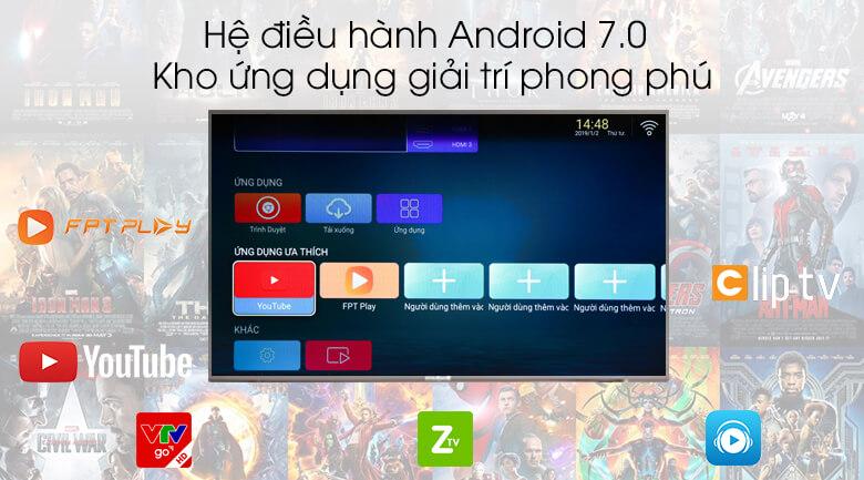Smart Tivi Mobell 43 inch 43S600A - Hệ điều hành Android