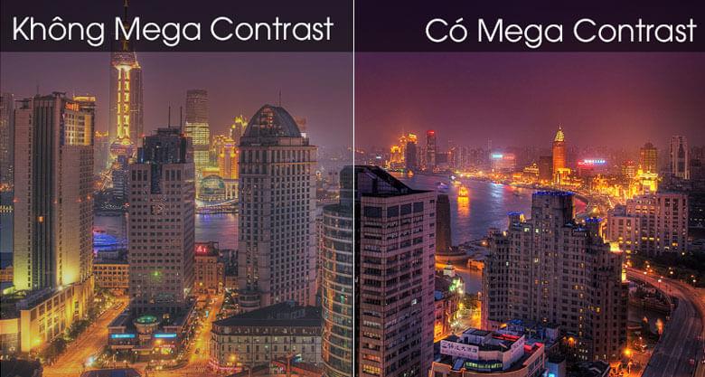 So sánh công nghệ Mega Contrast và không Mega Contrast - Smart Tivi Samsung 4K 65 inch UA65TU8500
