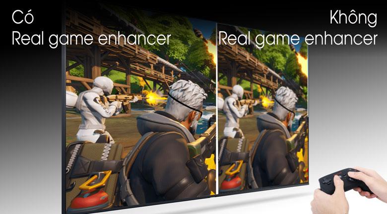 So sánh Công nghệ Real Game Enhancer và không Real Game Enhancer - Smart Tivi Samsung 4K 65 inch UA65TU8500