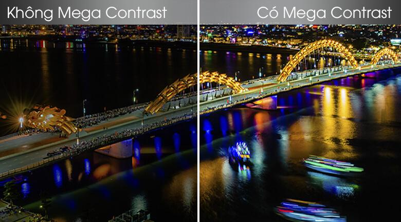 So sánh công nghệMega Contrast và không Mega Contrast - Smart Tivi Samsung 4K 43 inch UA43TU8100