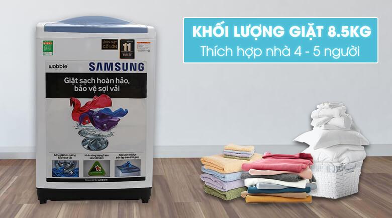 Khôi lượng giặt lớn - Máy giặt Samsung WA85M5120SW/SV
