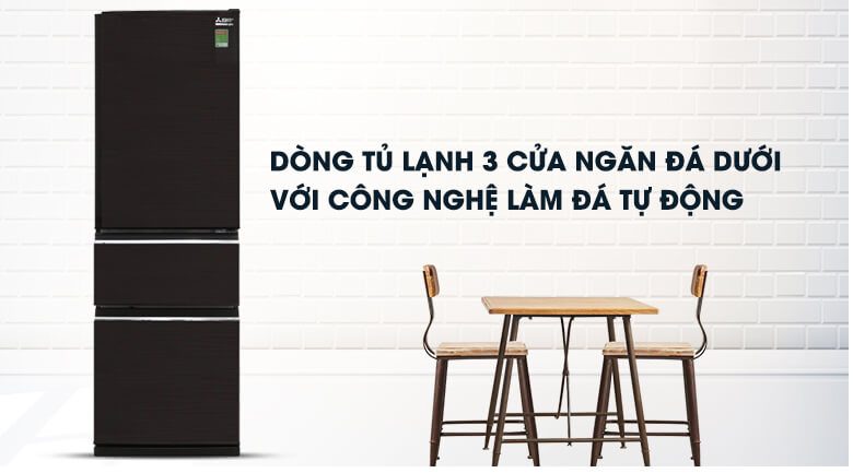 Tủ lạnh Mitsubishi Electric Inverter 358 lít MR-CX46EJ-BRW-V