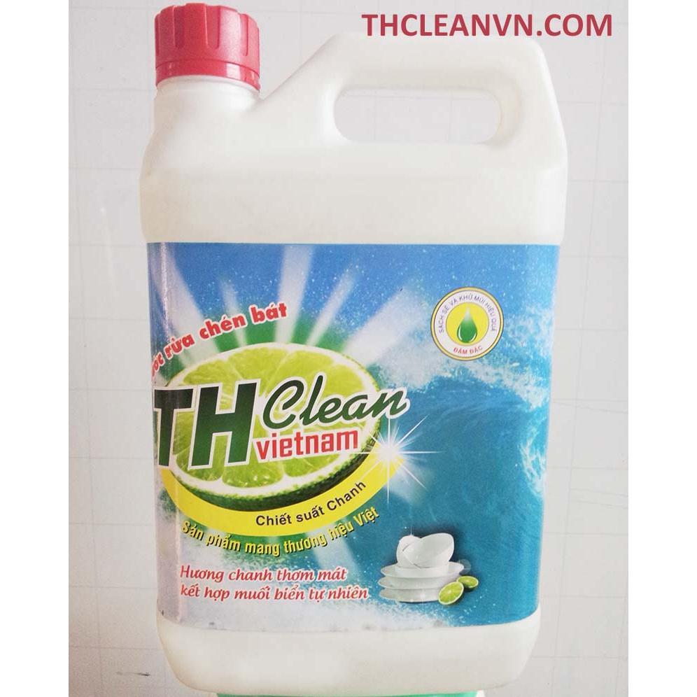 Nước rửa chén bát Thcleanvn can 2 lít