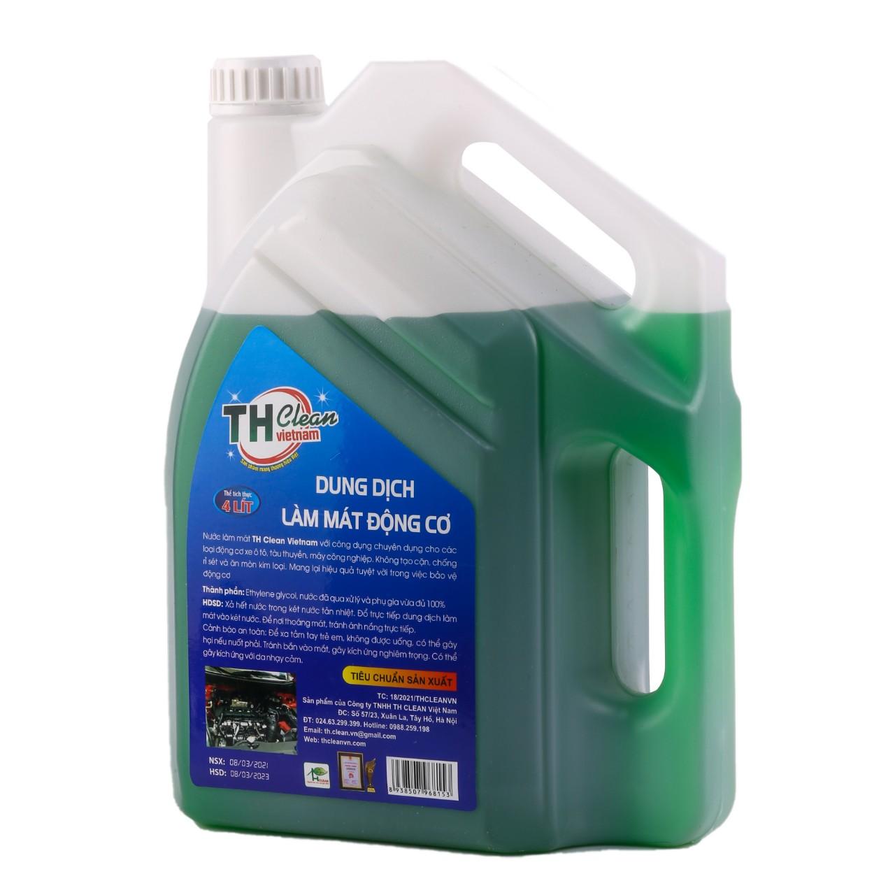 Nước làm mát ô tô  TH CLEAN 4L màu xanh