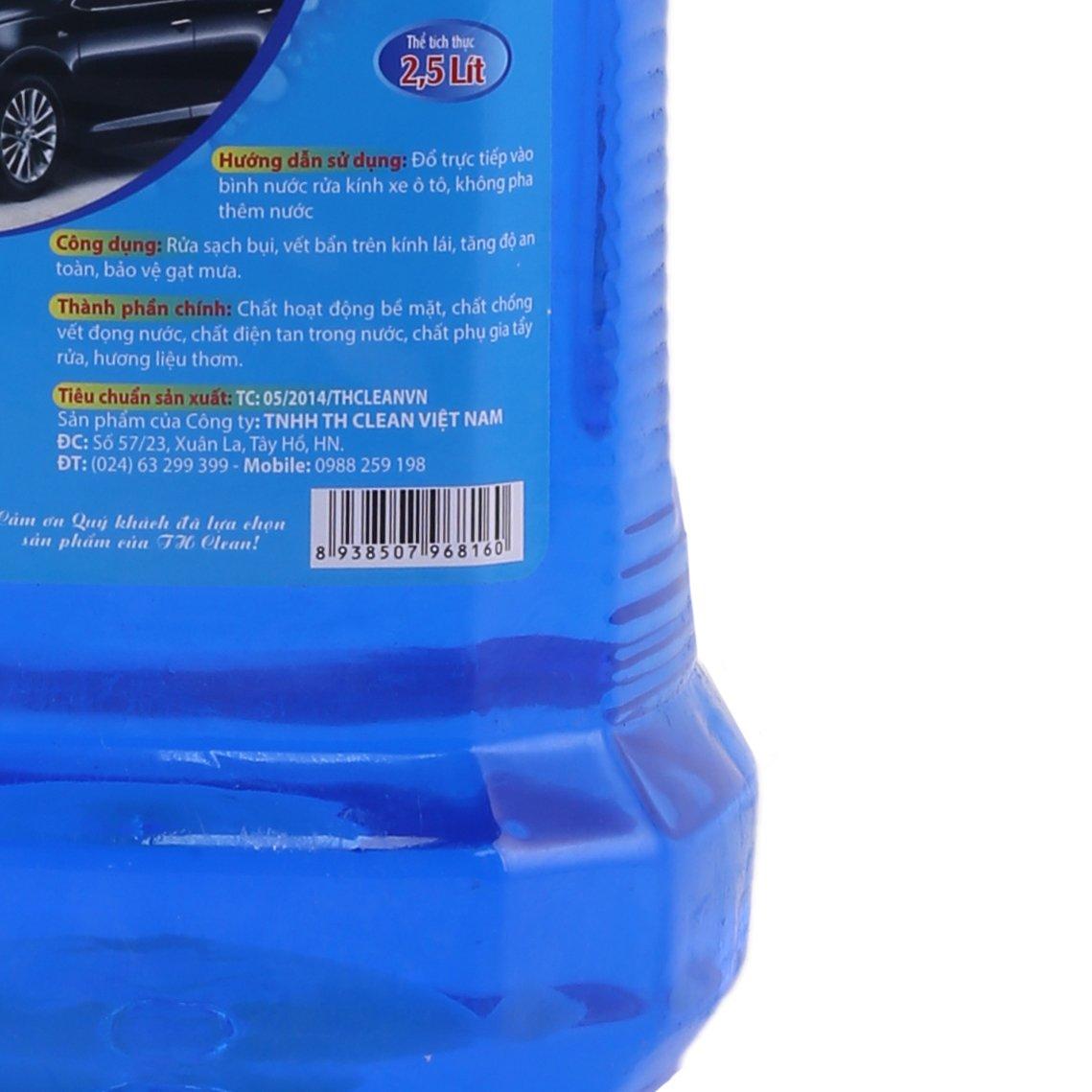 Nước rửa kính ô tô TH CLEAN can 2,5 L