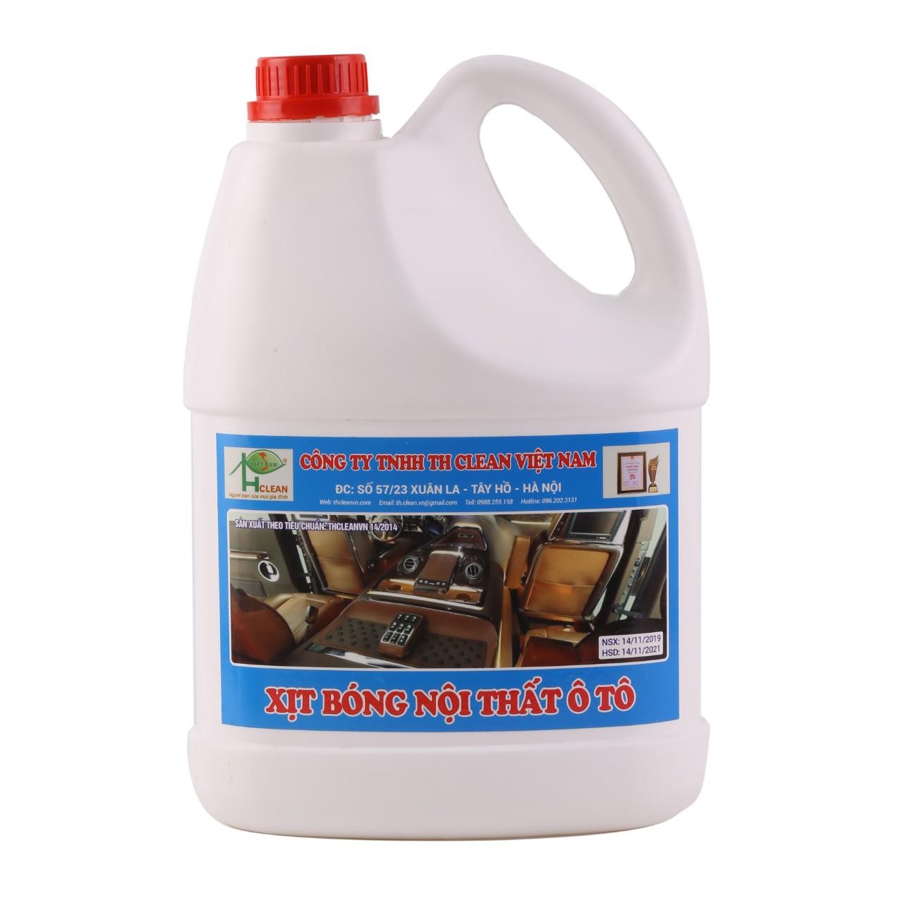Nước xịt bóng nội thất ô tô TH CLEAN can 4L