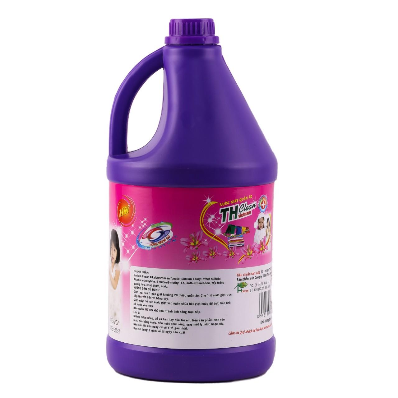 Nước giặt quần áo TH CLEAN can 5L