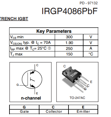 2pcs-original-igbt-irgp4086pbf-gp4086-4086-300v-250a-to-3p-new-infineon