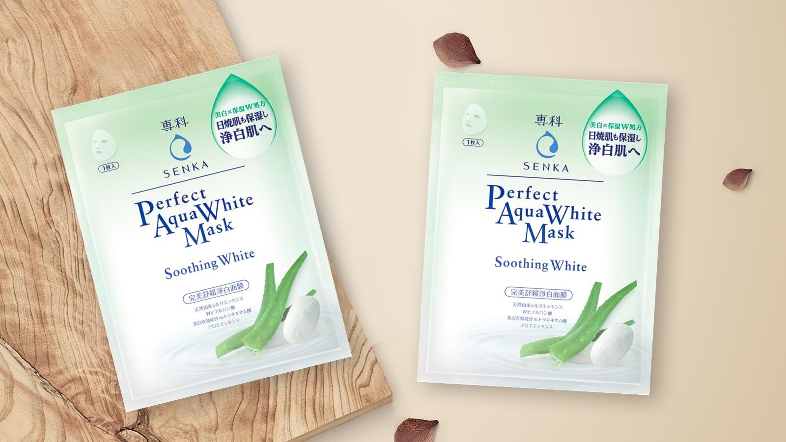 Bộ 7 Mặt Nạ Dưỡng Trắng Dịu Da Senka Perfect Aqua White Mask – Smoothing |  KYA.VN