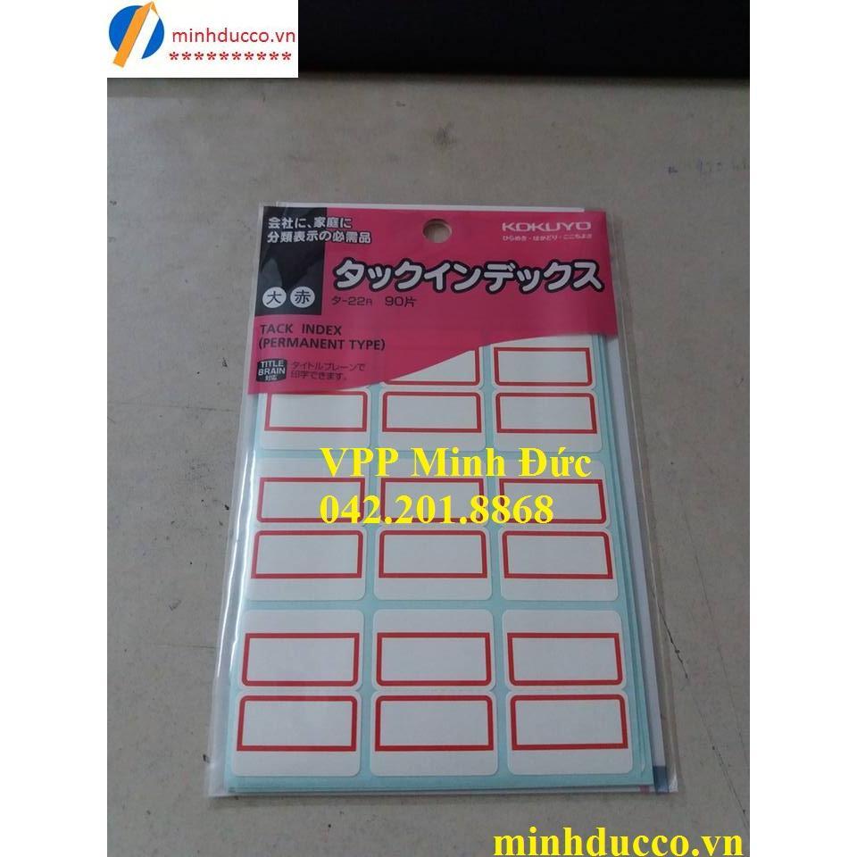 Nhãn dán Index Kokuyo T22