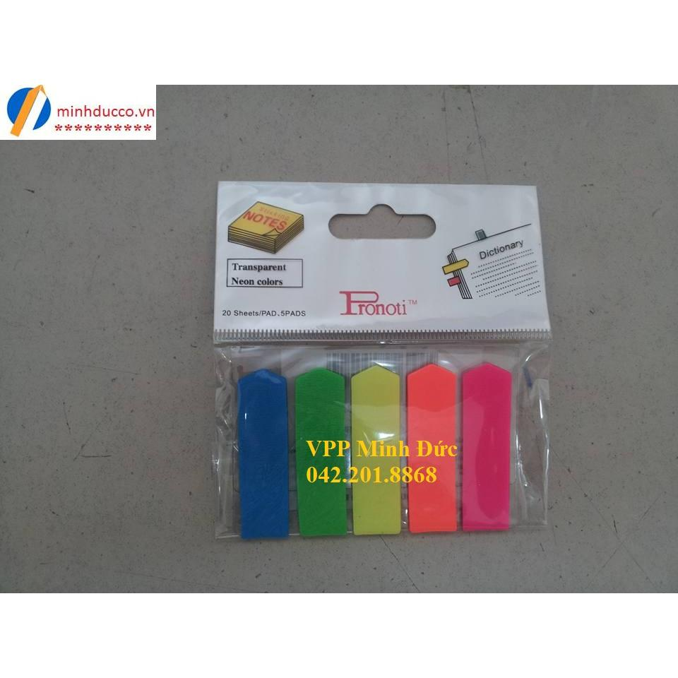 Phân trang nhựa 5 màu Pronoti