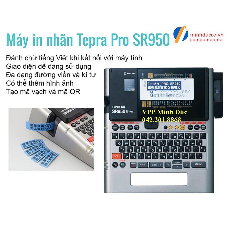 Máy in nhãn Tepra SR970 thay thế (Tepra Pro SR950)