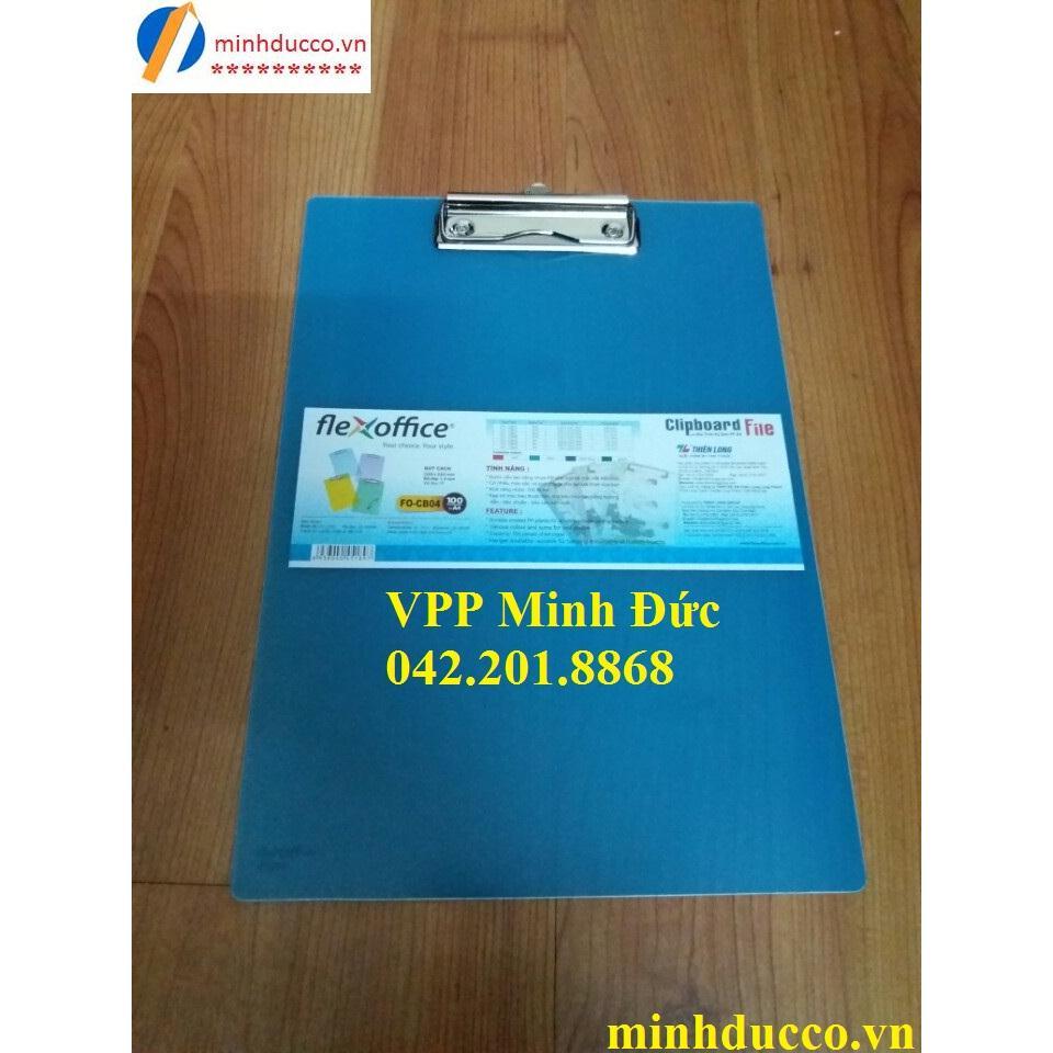Trình ký nhựa đơn A4 Thiên Long FO-CB04