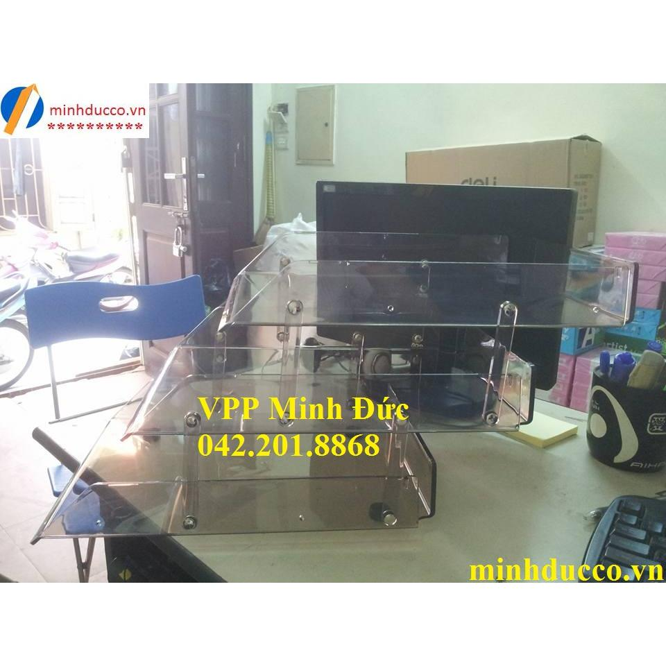 Khay mica 3 tầng Deli 9203
