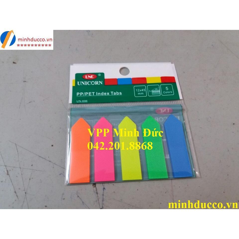 Phân trang nhựa 5 màu Unicorn UN-696