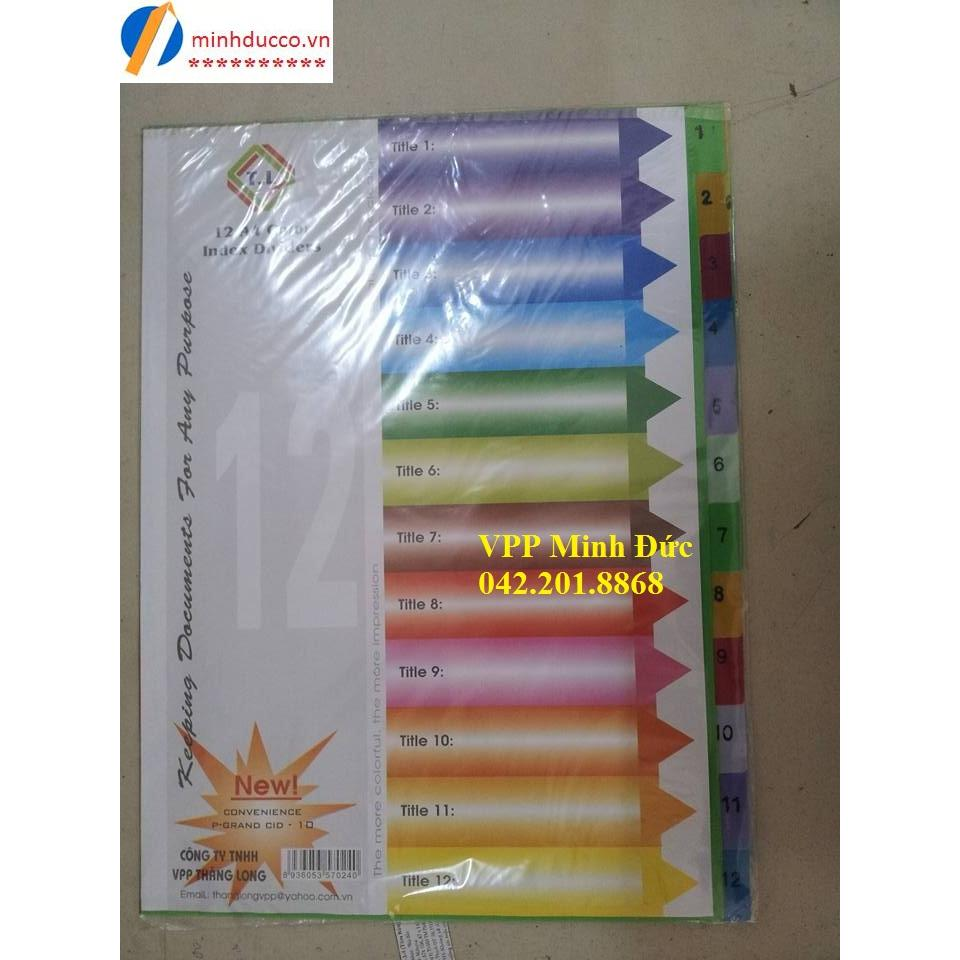 Chia file nhựa 12 màu TL