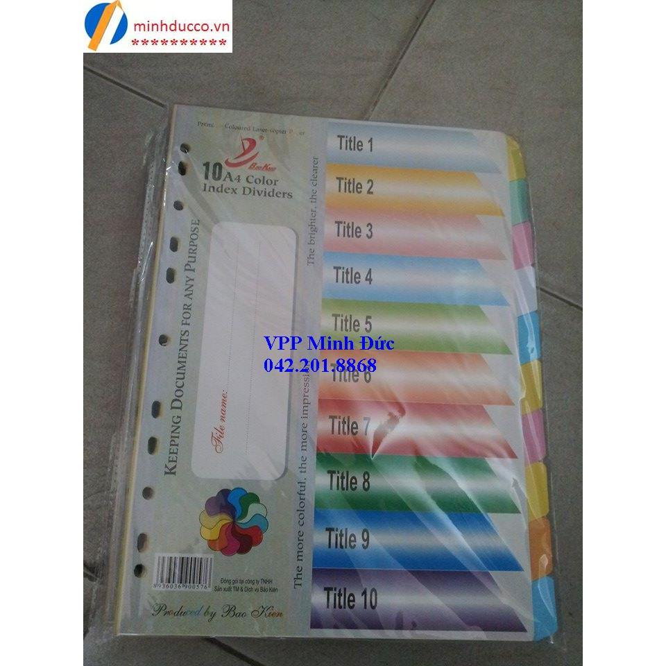 Chia file giấy 10 màu Bảo Kiên