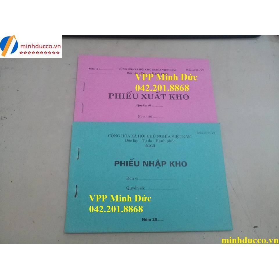 Phiếu nhập kho/ Phiếu xuất kho 1 liên KT 13x19
