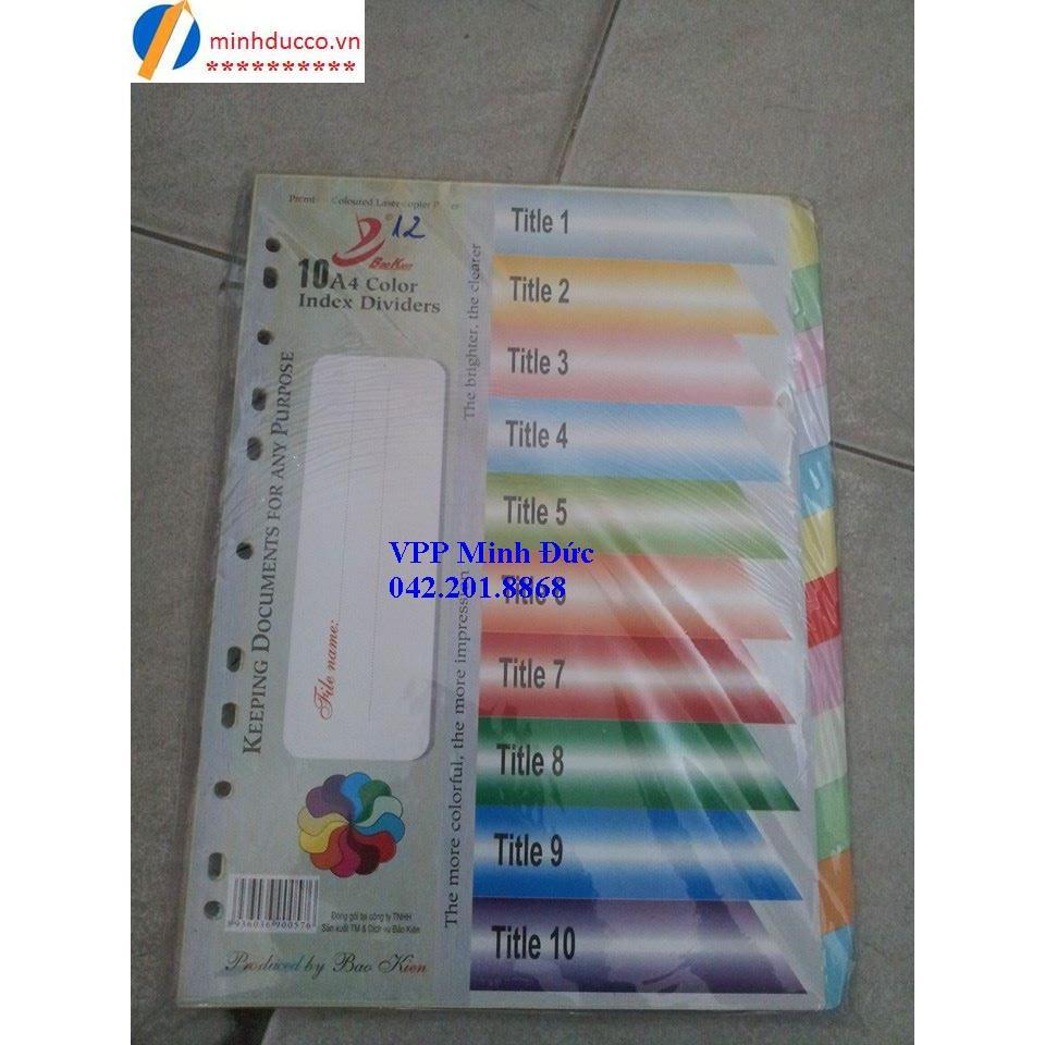 Chia file giấy 12 màu Bảo Kiên