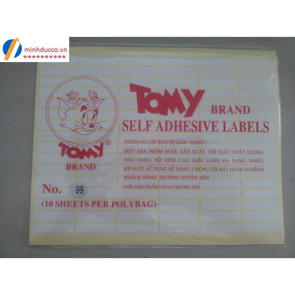 Giấy dán nhãn Tomy A5 (các cỡ)