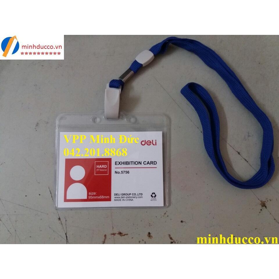 Thẻ đeo ngang Deli 5756
