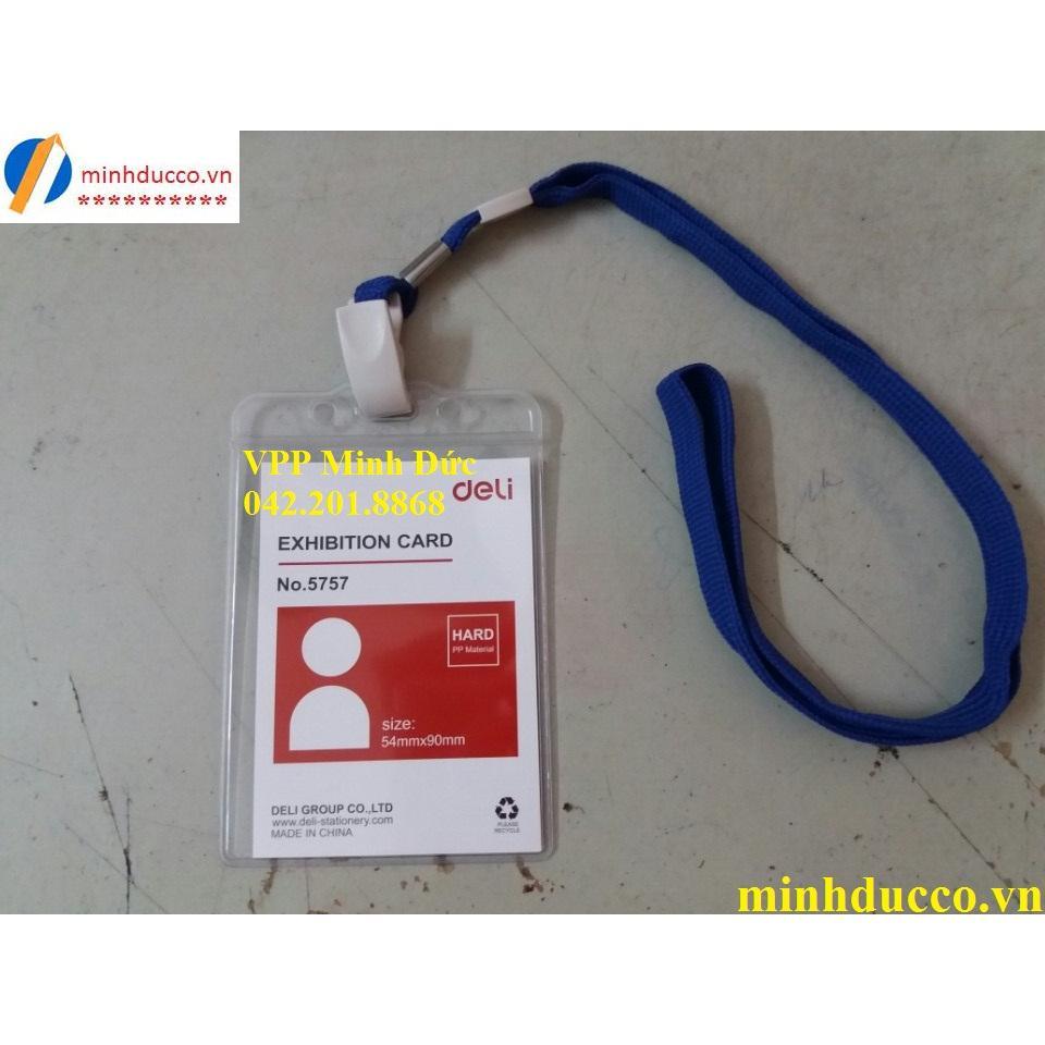 Thẻ đeo dọc Deli 5757