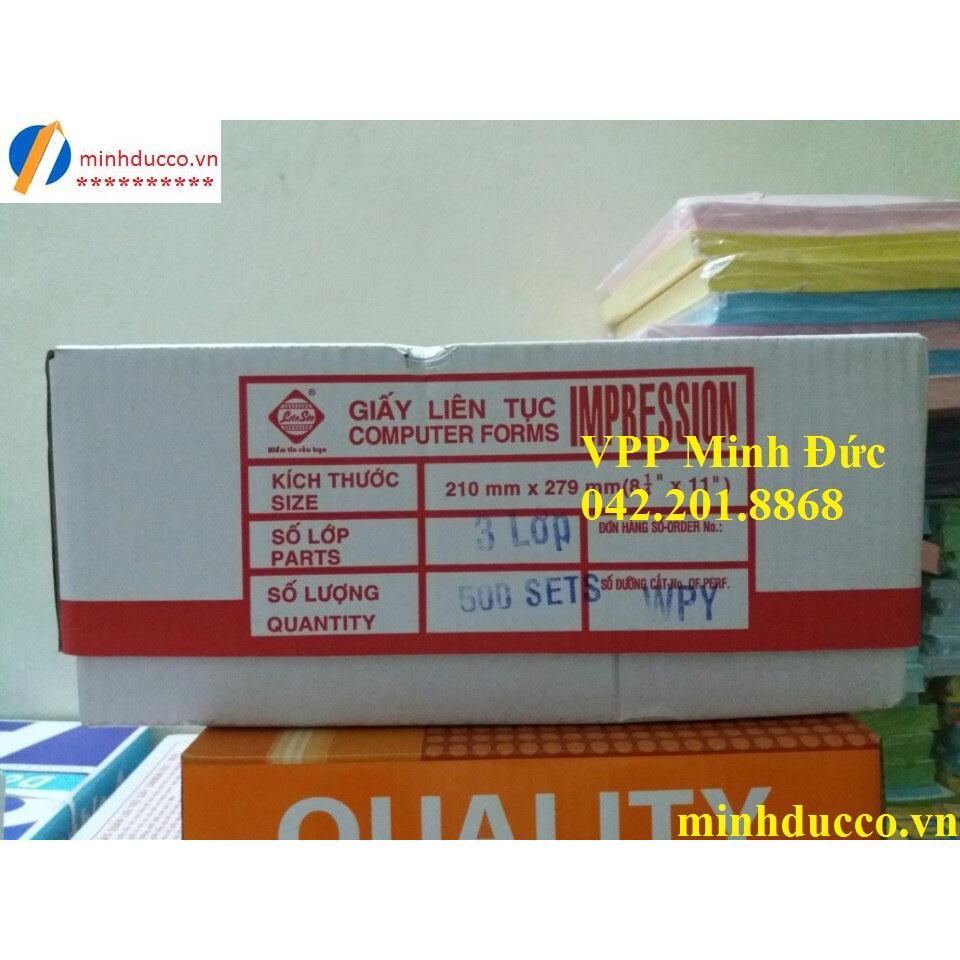Giấy in liên tục 3 liên IMP khổ 210 (khổ A4)