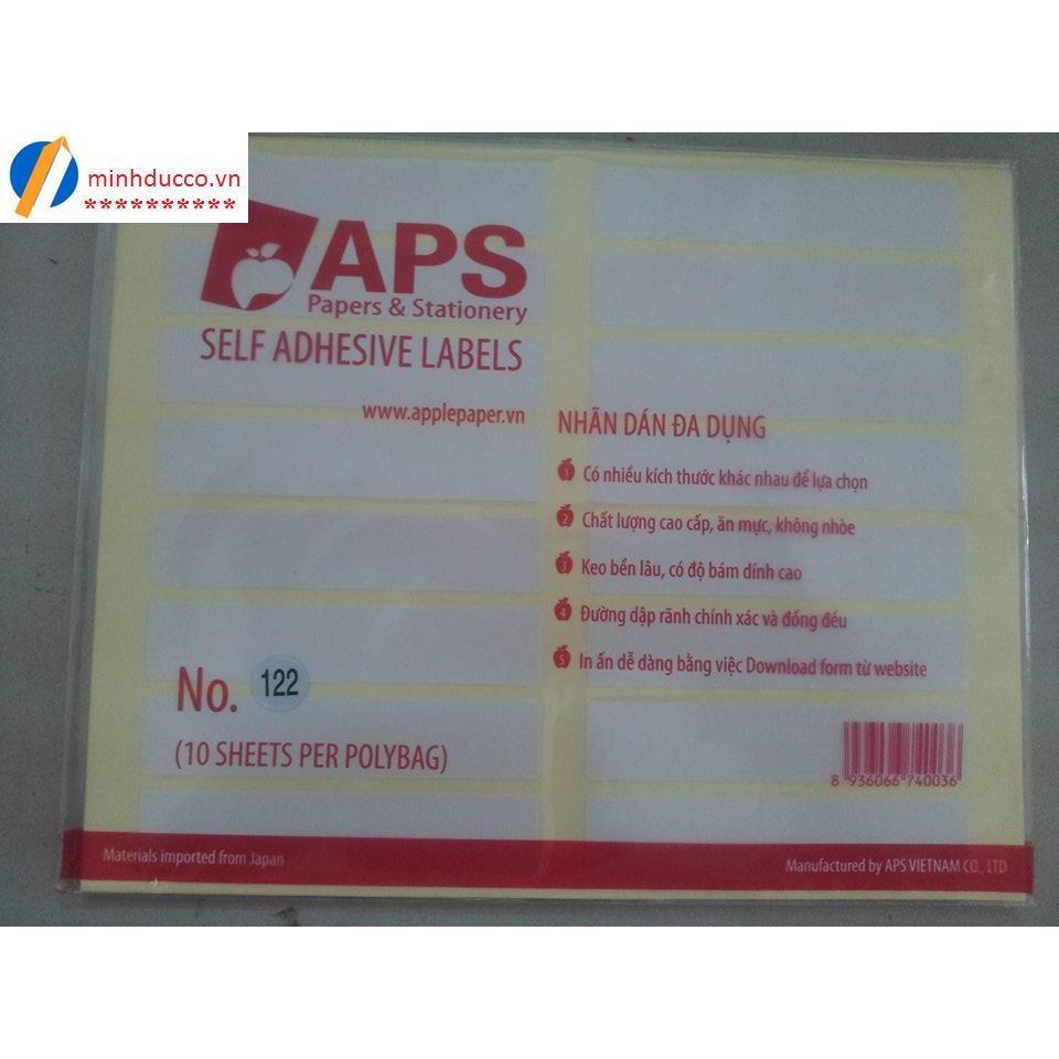 Giấy dán nhãn APS A5 (các cỡ)