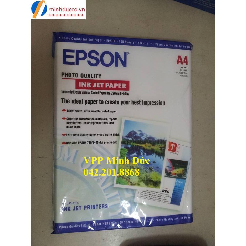 Giấy in ảnh Epson A4 100 tờ