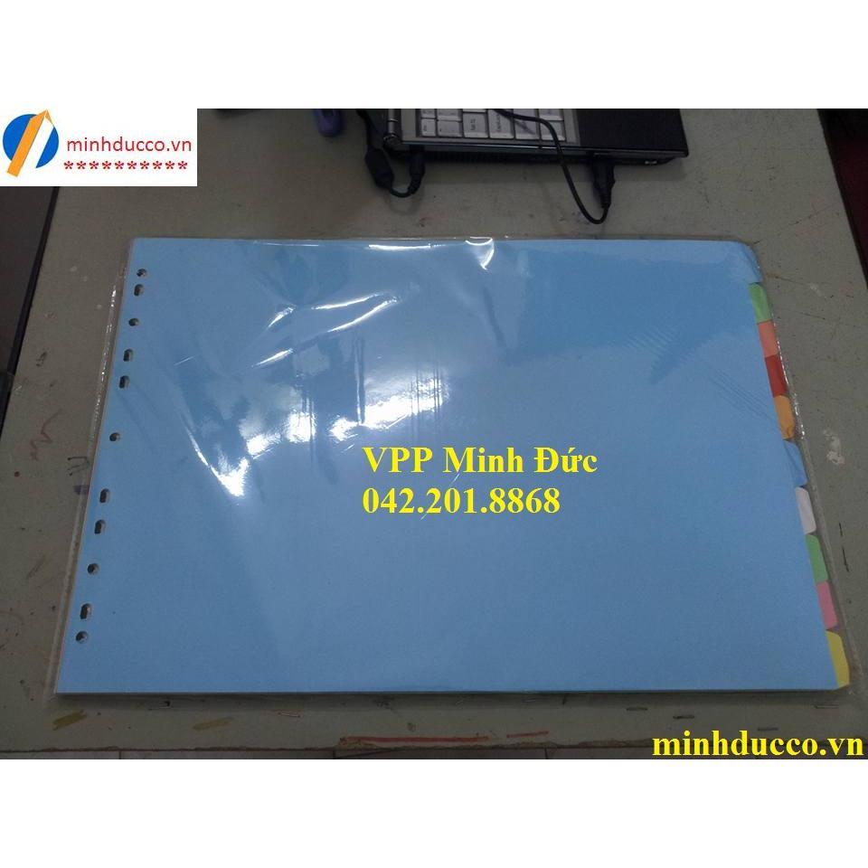 Chia file giấy 10 màu A3 Bảo Kiên