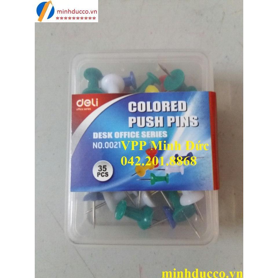 Ghim mũ nhựa màu Deli 0021