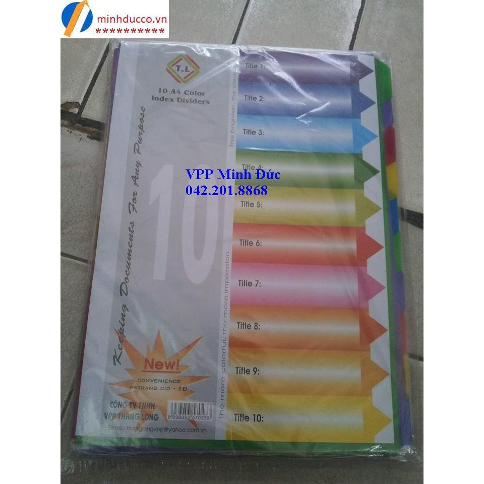 Chia file nhựa 10 màu TL