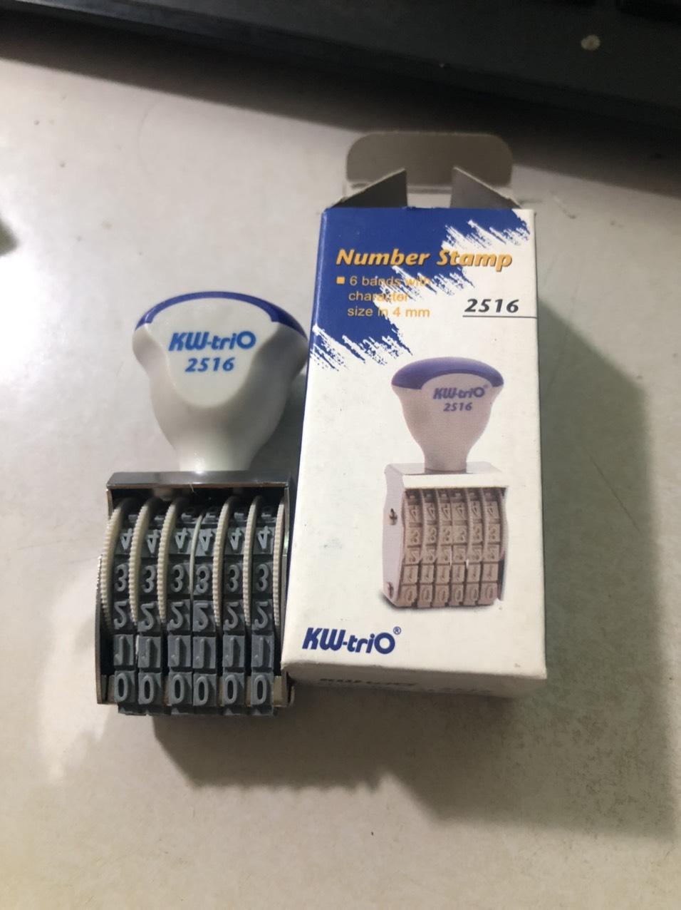 Dấu 6 số xoay KW-TRIO 2516