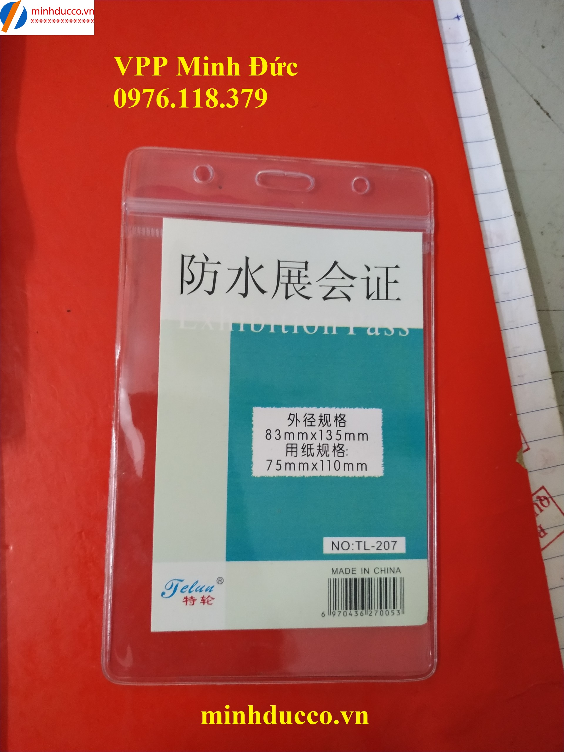 Thẻ nhựa dọc TL-207