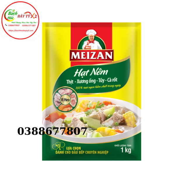 Hạt Nêm Meizan Vị Thịt Heo Gói 1Kg