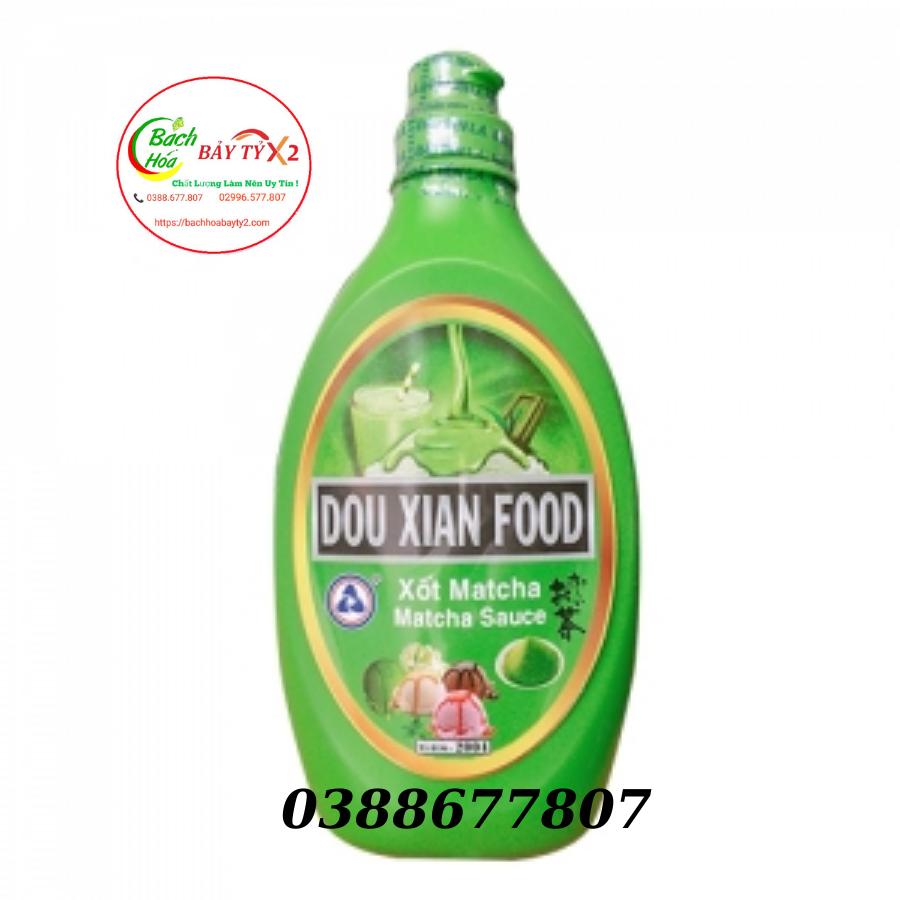 Xốt Matcha (Trà Xanh) Dou Xian Food Chai 700gr