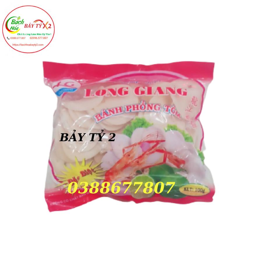 Bánh Phồng Tôm Long Giang 100Gr/Gói