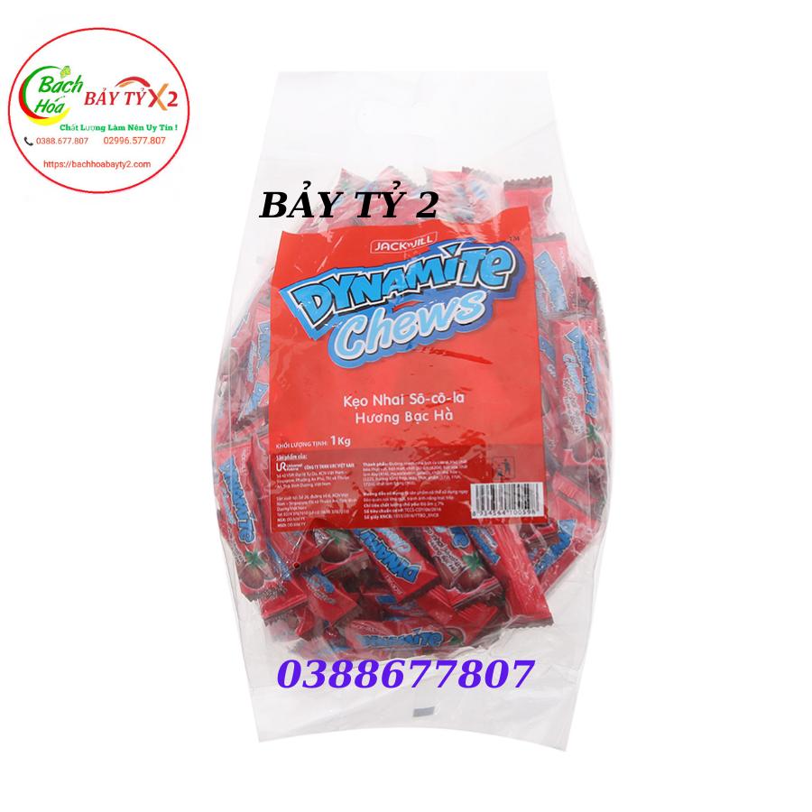 Kẹo Nhai Socola Hương Bạc Hà Dynamite Chews Gói 1 Ký