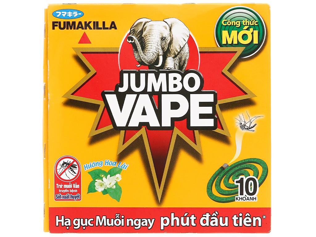 Nhan Muỗi Jumbo Vape M2 Vàng 10 Khoanh/Hộp