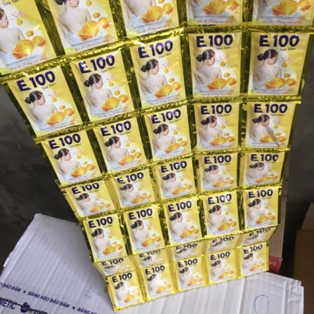 Sữa Tắm E100 Tinh Chất Hoa Hồng Vàng 24 Gói/Dây
