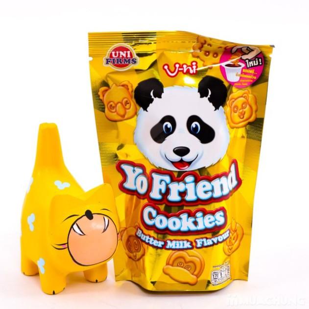 Túi 12 Gói Bánh Gấu Vàng Chấm Socola Thái Lan