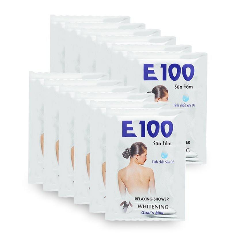 Sữa Tắm E100 Tinh Chất Sữa Dê 24 Gói/Dây