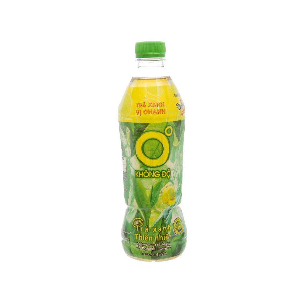 Nước Uống Trà Xanh Không Độ Chai 455ml