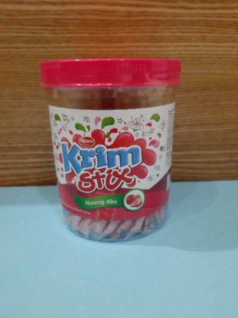 Kẹo Dâu Krimstix 450gr/Hủ
