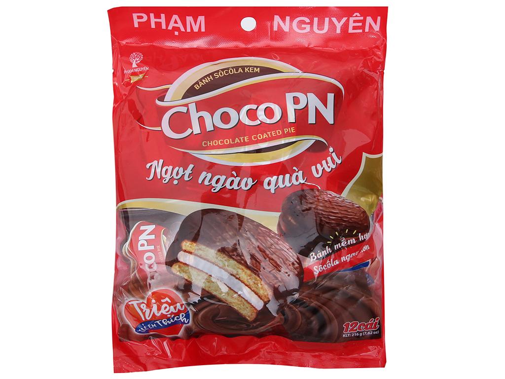 Bánh Phủ Sôcôla Choco PN 12 Gói/Túi