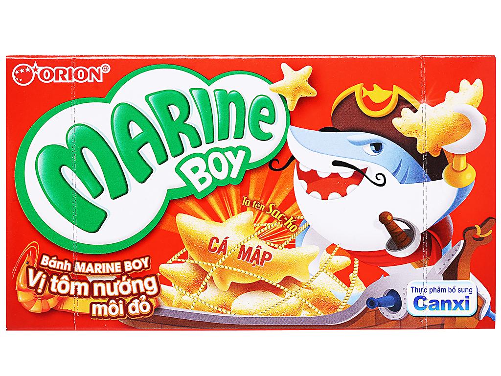 Bánh Marine Boy Vị Tôm Nướn Môi Đỏ Hộp 100gr