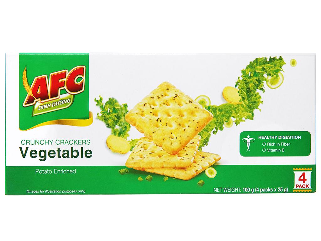 Bánh AFC Dinh Dưỡng Vị Rau Hộp 100gr