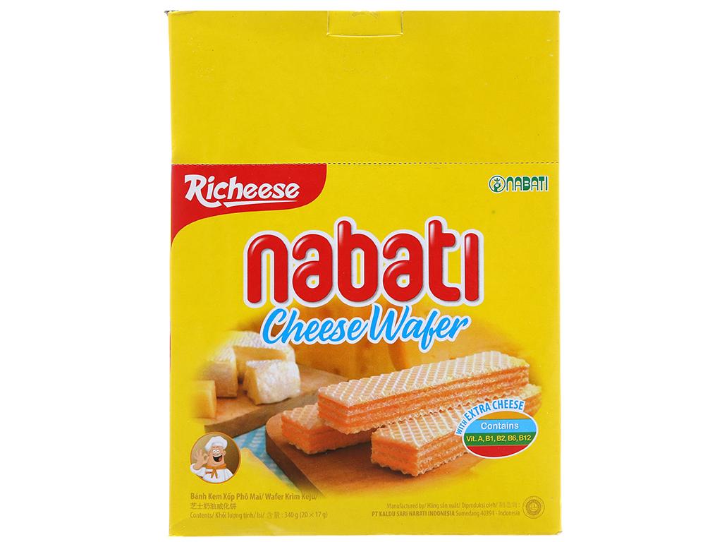 Bánh Xốp Nabati Vị Phô Mai Hộp 320gr